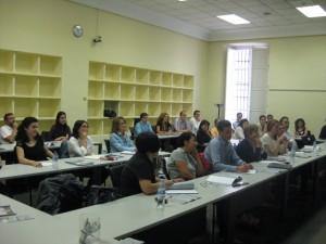 Alumnos del seminario durante las clases